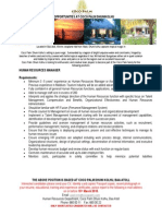 Job Adverts - HR Manager - 06-03-2015