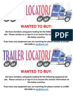 Wanted to Buy Bulletin - March 04, 2015