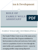 Population & Development Role of FWA