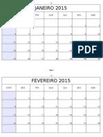 Calendário 2014 - Excel