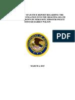 Mike Brown Department of Justice Report ~ TheHillTalk.com