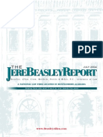 The Jere Beasley Report Jul. 2004