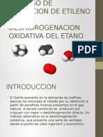 Proceso de Obtencion de Etileno Por Deshidrogecion Oxidativa