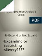 a compromise avoids a crisis