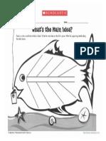 Main Idea Fish Organizer