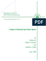 Fatigue of Bearing-Type Shear Splice