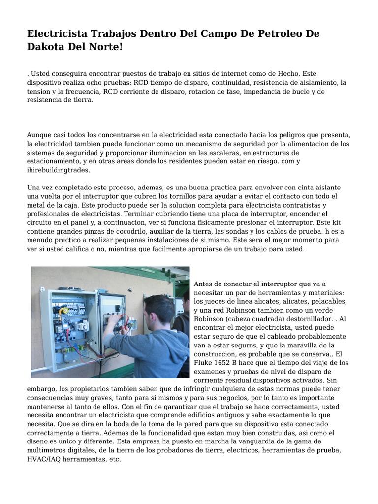 Electricista Trabajos Dentro Del Campo De Petroleo De Dakota Del Norte!