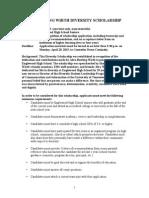 wirth diversity scholarship application