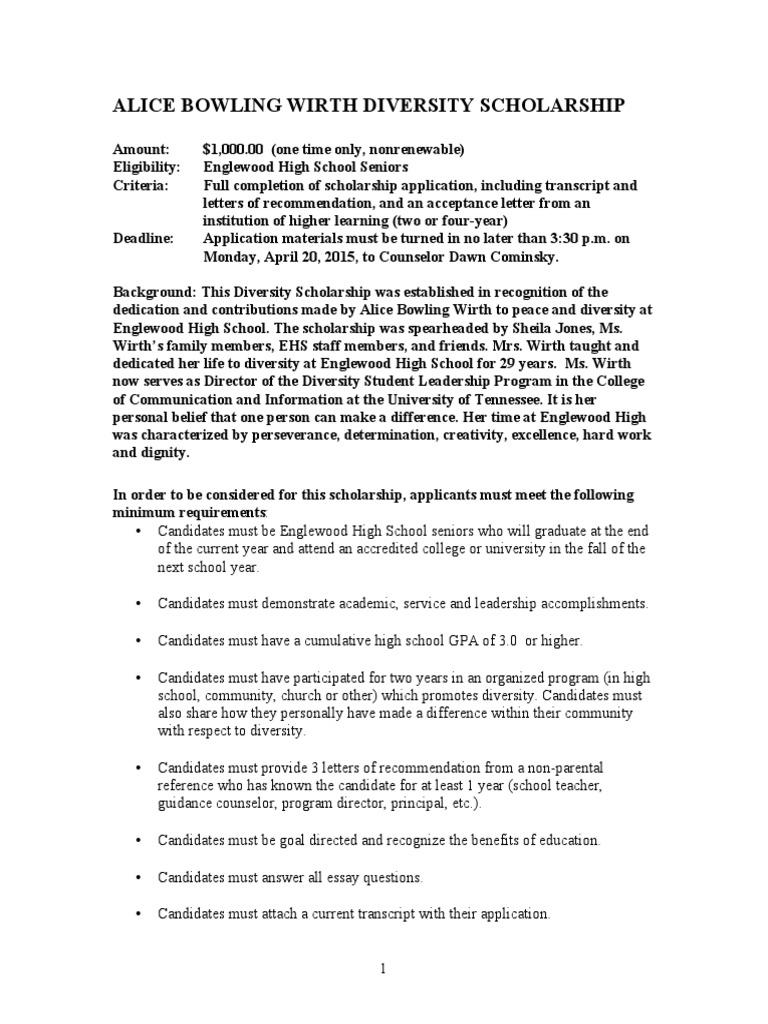 English Composition Essay  English Class Essay also Persuasive Essay Sample High School Wirth Diversity Scholarship Application  Secondary School  Academia Good English Essays Examples