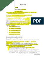 Desglose Guion Tecnico Plan de Rodaje Llamado Diario