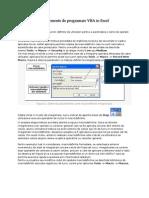 Macrodefinitii Si Elemente de Programare VBA in Excel