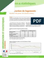 Chiffres de la construction de Logement 2015