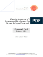 Capacity Assessment of Non-Governmental