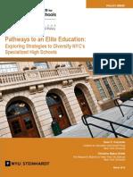 Pathways to an Elite Education