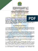 UFPB PRG Edital 01-2015 - Primeira Chamada SiSU 2015