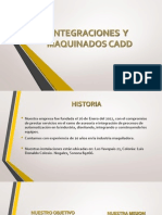Integraciones y Maquinados Cadd Presentacion