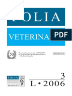Folia Veterinaria 3 2006