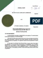 Court application