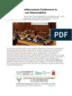 Al via SDSN Mediterranean Conference in Diretta Twitter Con Rinnovabili.it