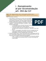 Gravidez - Rompimento Contratual Por Recomendação Média – Art. 394 Da CLT