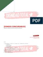 Lista de fondos concursables