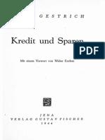 Hans Gestrich - Kredit Und Sparen (1944)