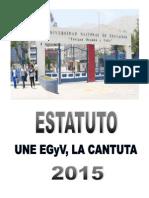 Estatuto Une Egyv La Cantuta 2015