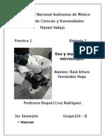 Uso Del Microscopio (Practica)
