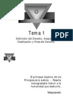 Tema 1 - Definición Del Derecho