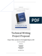 Technical Writing Project Proposal