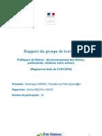 EGI Rapport GT Politiques de Filieres