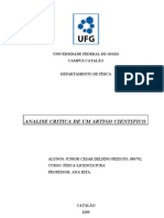 UNIVERSIDADE FEDERAL DE GOIÁS analise