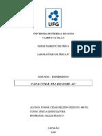 UNIVERSIDADE FEDERAL DE GOIÁS capacitor em regime AC