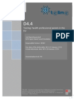 D4.4 Report on Health Professionals Panels Testing the Prototype in the EU