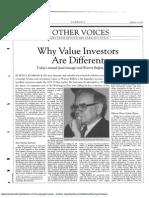 Seth Klarman on Why Value Investors Are Different