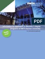 Bachelor Broschüre 2012 Englisch