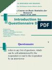 5 Questionnaire Design