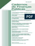 12o Caderno de Financas - 2012 -1