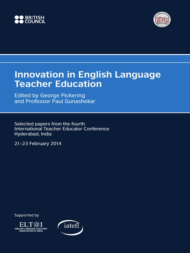 innovation in english language teacher education edited by george