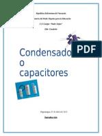 Condensador de Láminas Paralelas o Condensadores Planos