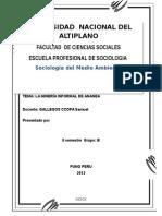 SOCIOLOGIA DEL MEDIO AMBIENTE MINERIA INFORMAL.docx