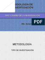 Tipo y Diseño de Investigación