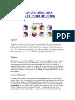 Métodos Avanzados Para Resolver El Cubo de Rubik