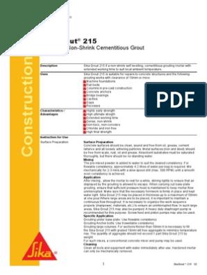 Sikagrout 215 | Concrete | Mortar (Masonry)