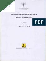230824746 Peraturan Menteri Pekerjaan Umum No 78 PRT M 2005 Tentang Leger Jalan