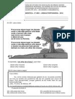 Diagnóstica Língua Portuguesa - 5º Ano