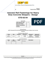 ARTC - ETD-02-04 Resilient Rail Fastenings for Heavy Duty Concrete Sleepers Design