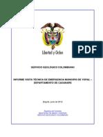 Informe Emergencia Yopal2012 v6111 Ingeominas