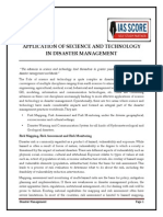 Application of Secience and Technology in Disaster Management