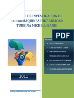 Informe de Investigación de Turbomáquinas Hidráulicas (Michell Banki)
